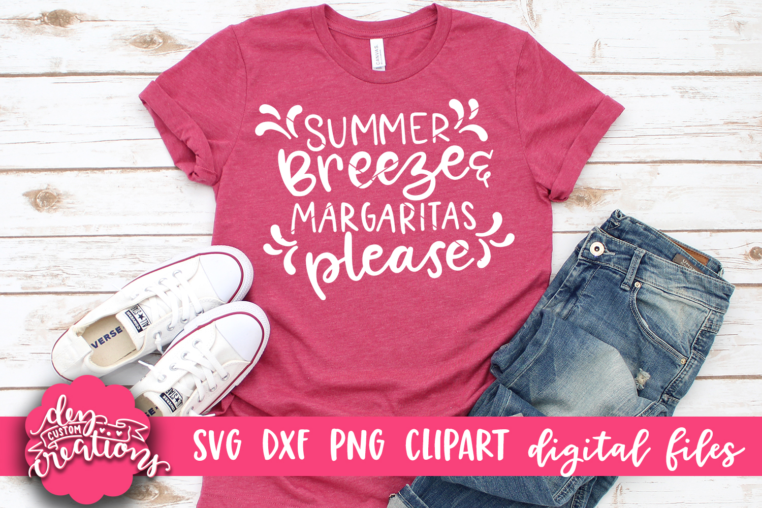 Summer Breeze & Margaritas Please - SVG - DXF - PNG Cut File example image 3