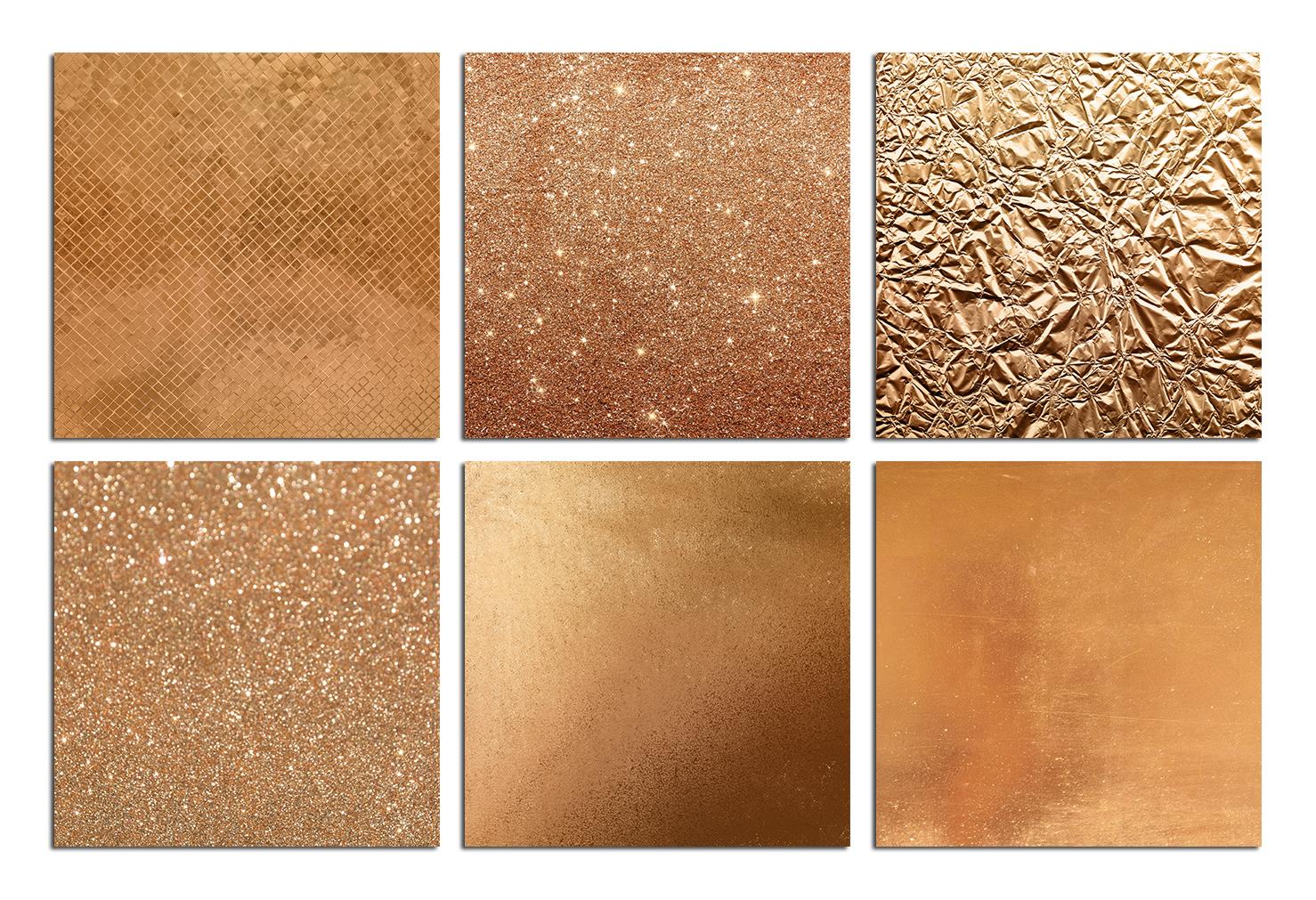 Bronze Foil & Glitter Digital Paper example image 2