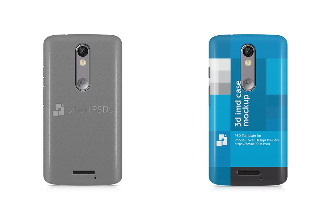 Motorola Moto X Force 3d IMD Mobile Case Design Mockup 2016 example image 1