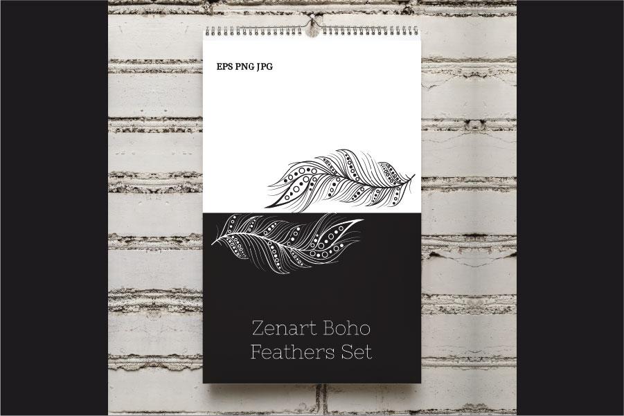 Zenart Boho Feathers Set example image 13