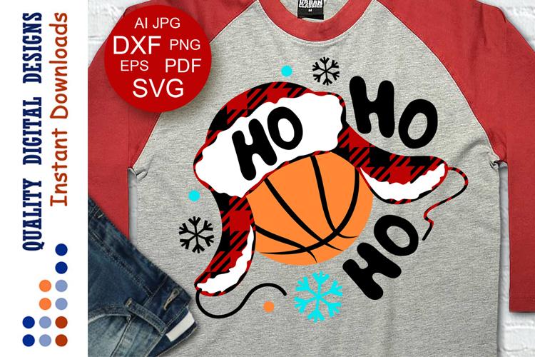 Basketball svg Hohoho example image 1