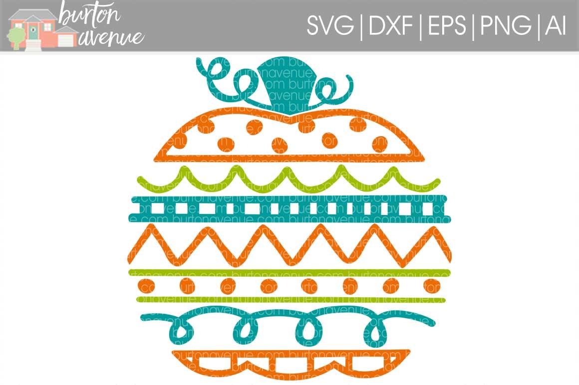 Doodle Pumpkin cut File - SVG DXF EPS AI PNG example image 1