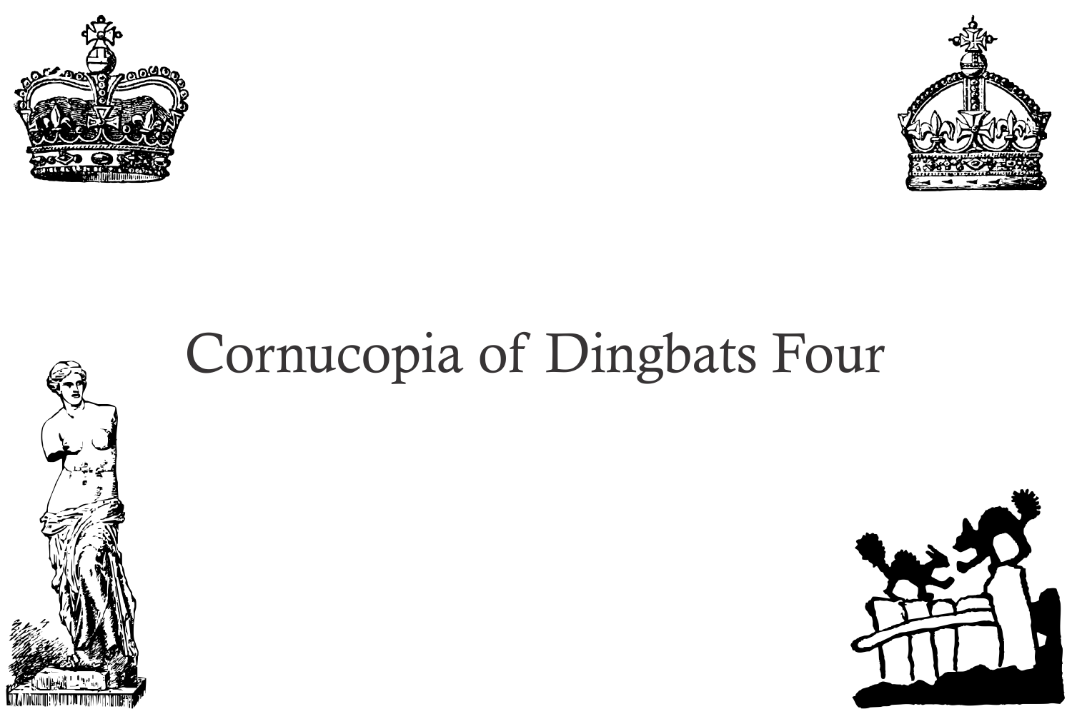 Cornucopia of Dingbats Four example image 3
