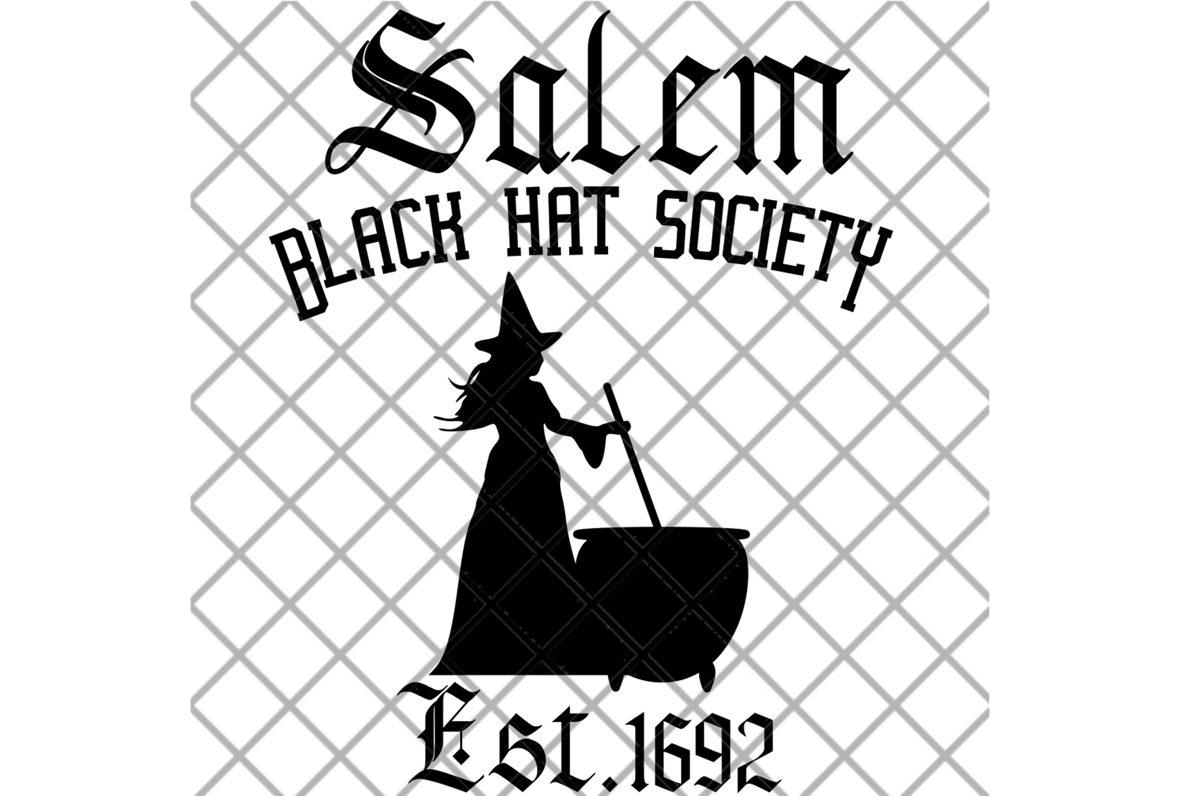 Witch SVG, Black Hat Society, Halloween Digital Cut File example image 3