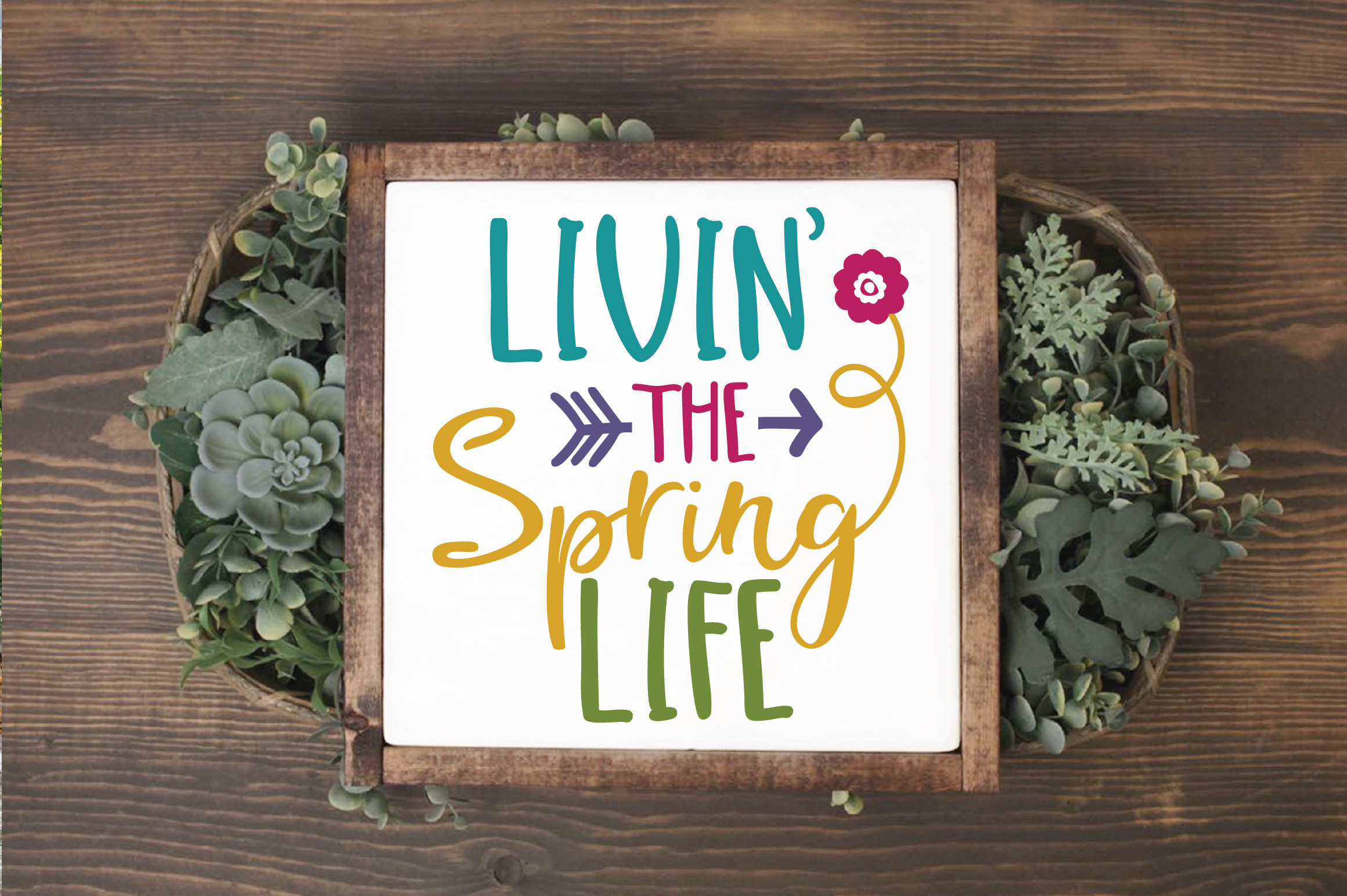 Livin' the Spring Life SVG Cut File - Spring SVG DXF EPS PNG example image 3