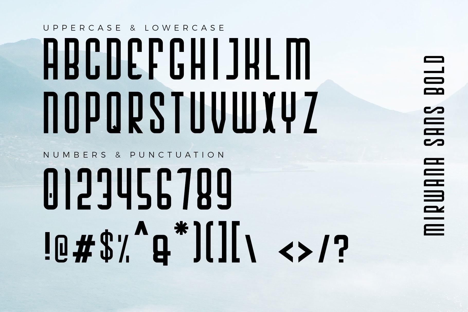 Mirwana Font Duo example image 7