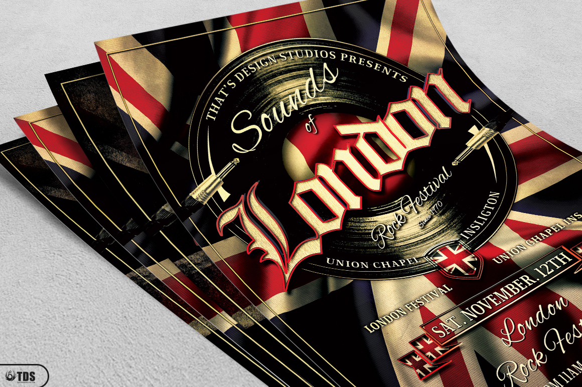 Sounds of London Flyer Template example image 4
