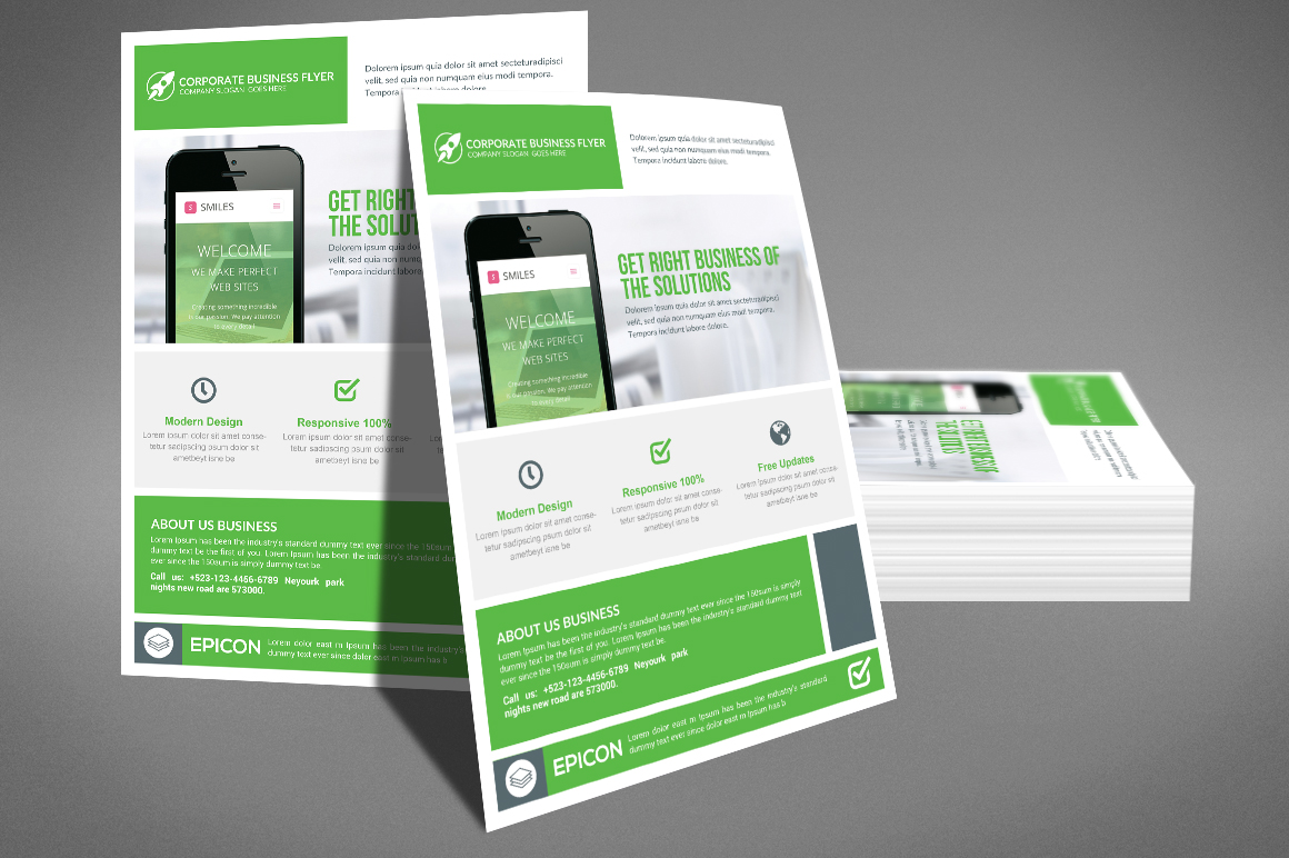 Modern Corporate Flyer Template example image 3