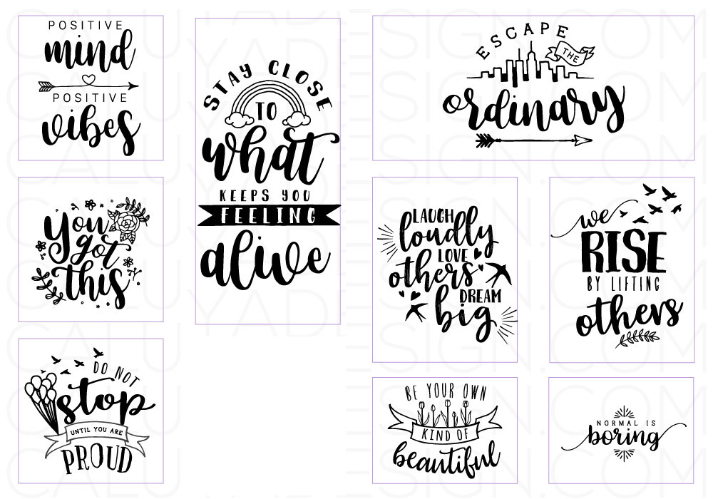 Inspirational Quote SVG Cut File Bundle example image 4