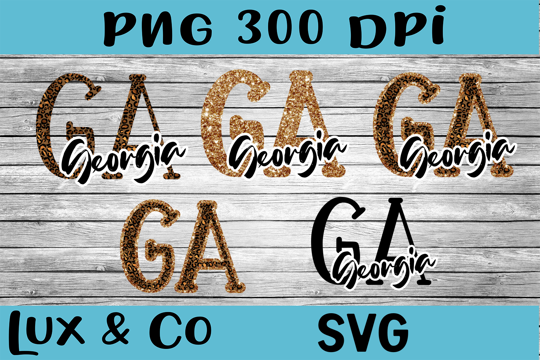 Georgia GA State Leopard Bundle example image 1
