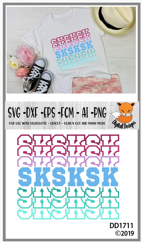 SKSKSK Basic Girl SVG example image 2
