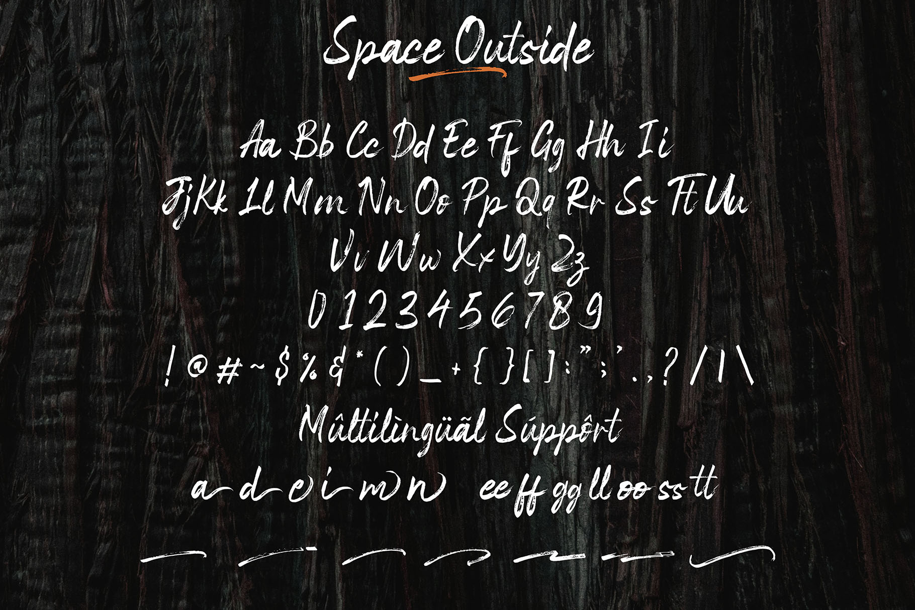 Space Outside Handbrush Font example image 9