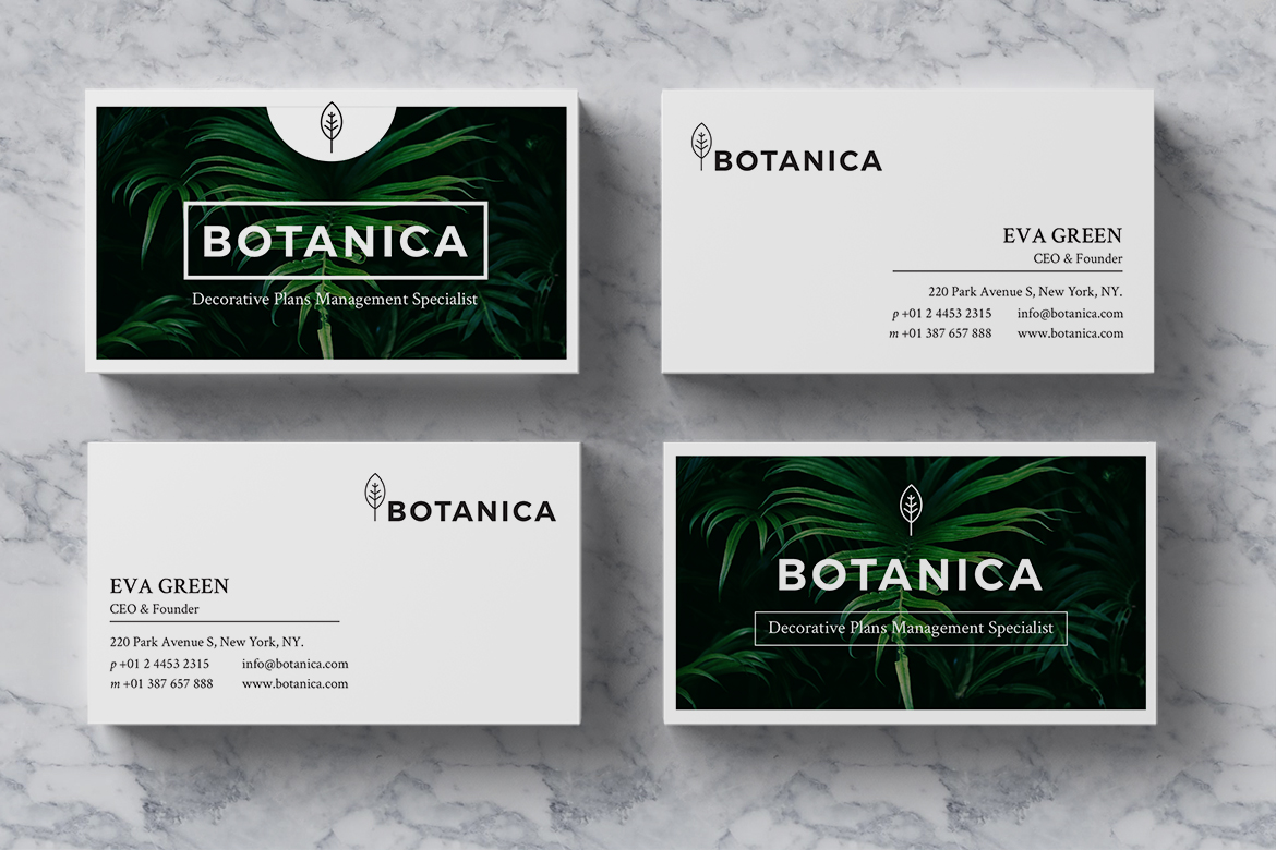 BOTANICA Business Card Template example image 4