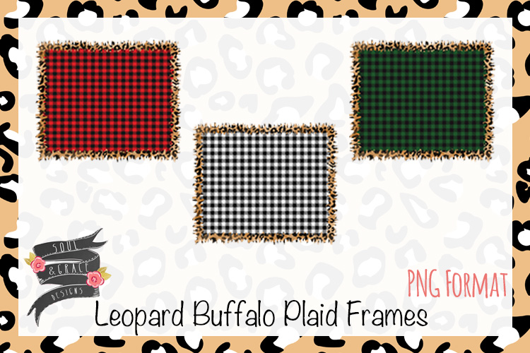Leopard Buffalo Plaid Frame example image 1