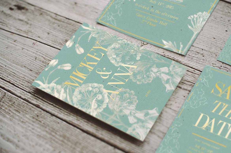 Classic Foliage Wedding Invitation example image 2