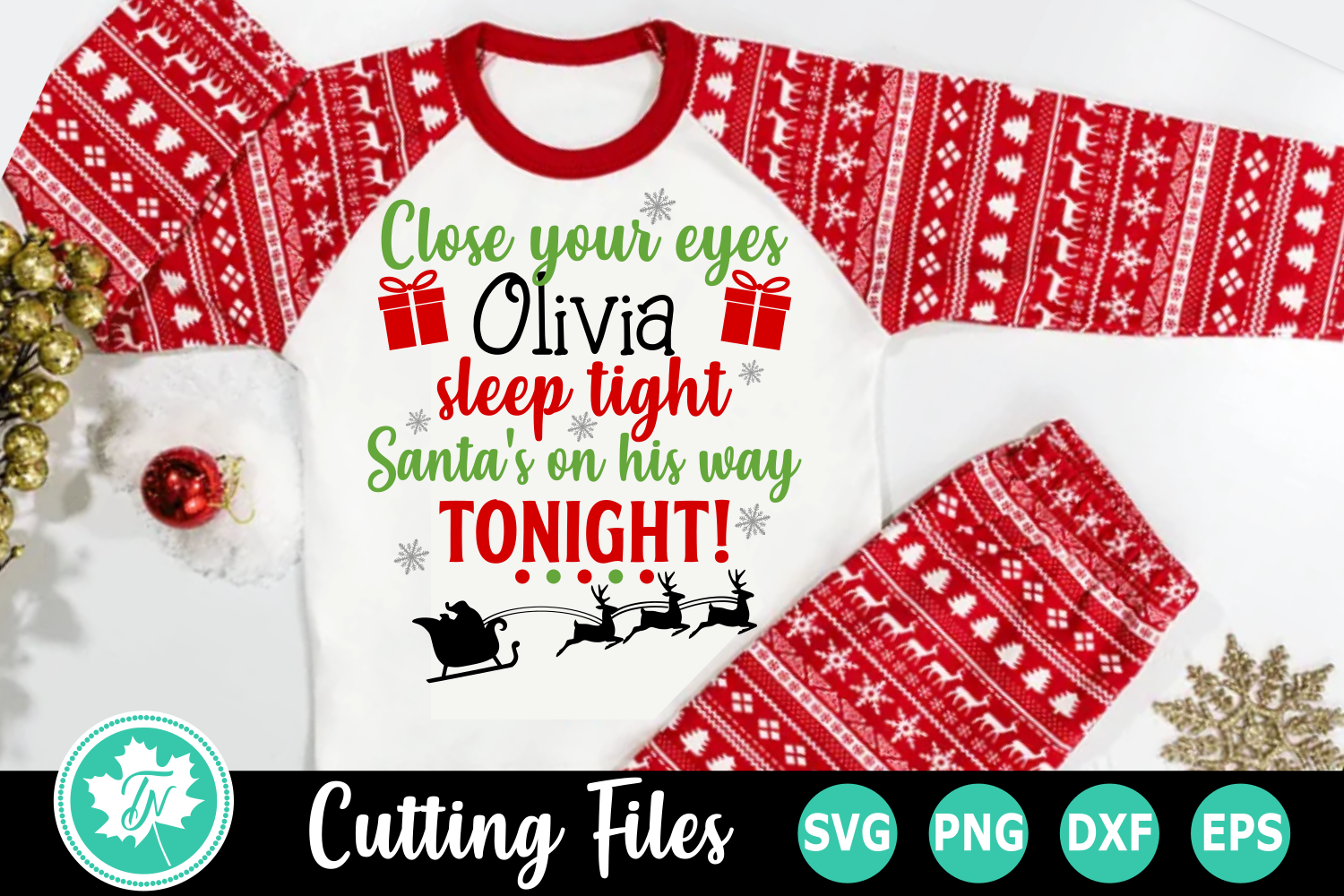 Close Your Eyes Sleep Tight - A Christmas SVG File example image 2