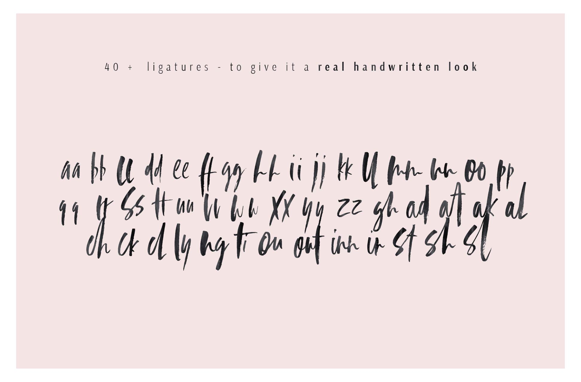 Beatrix Brush Font + Extras example image 12