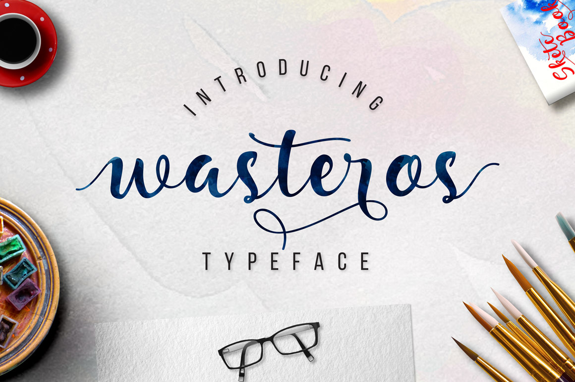 Wasteros Typeface example image 1