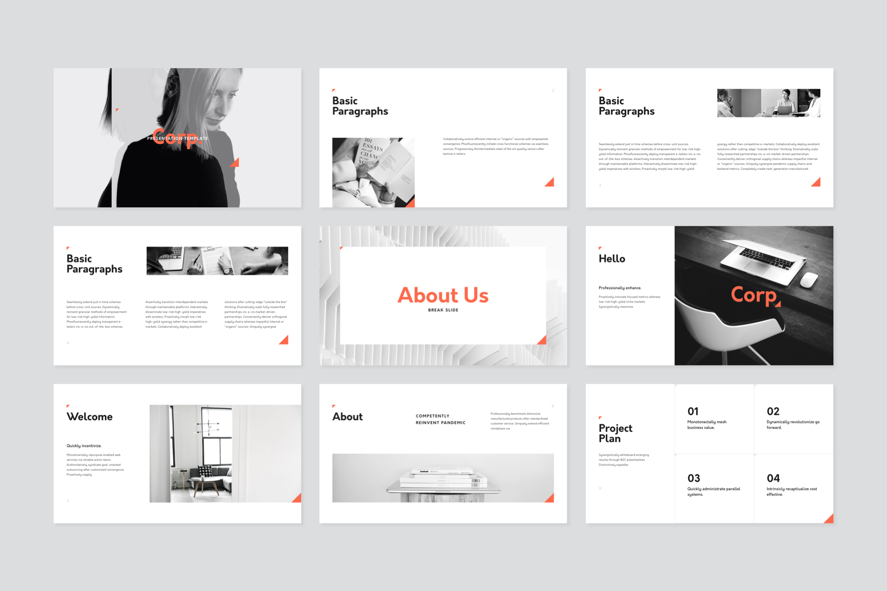 Corp Keynote Presentation Template example image 2