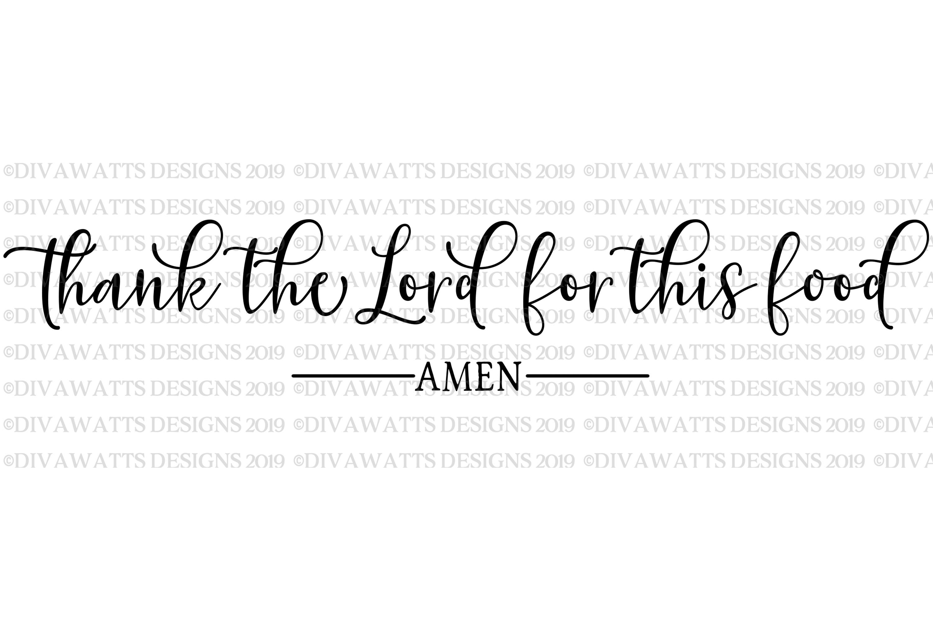Thank The Lord For This Food Amen - Farmhouse Sign SVG example image 2