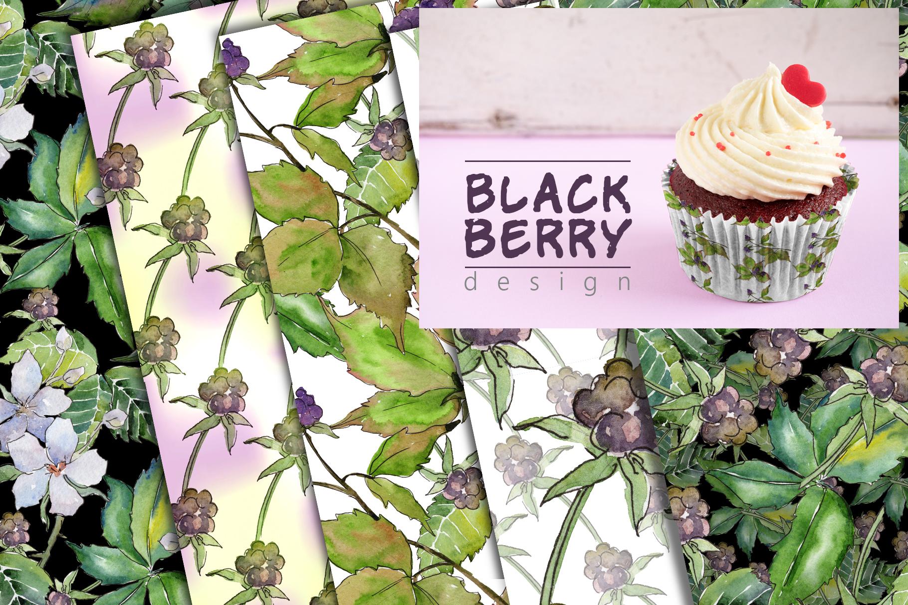 Sweetly blackberry JPG watercolor set  example image 6