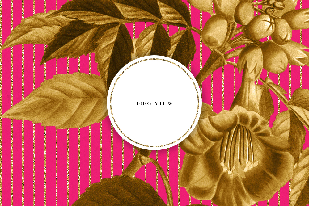 Retro Colors Floral Tileable Backgrounds example image 5