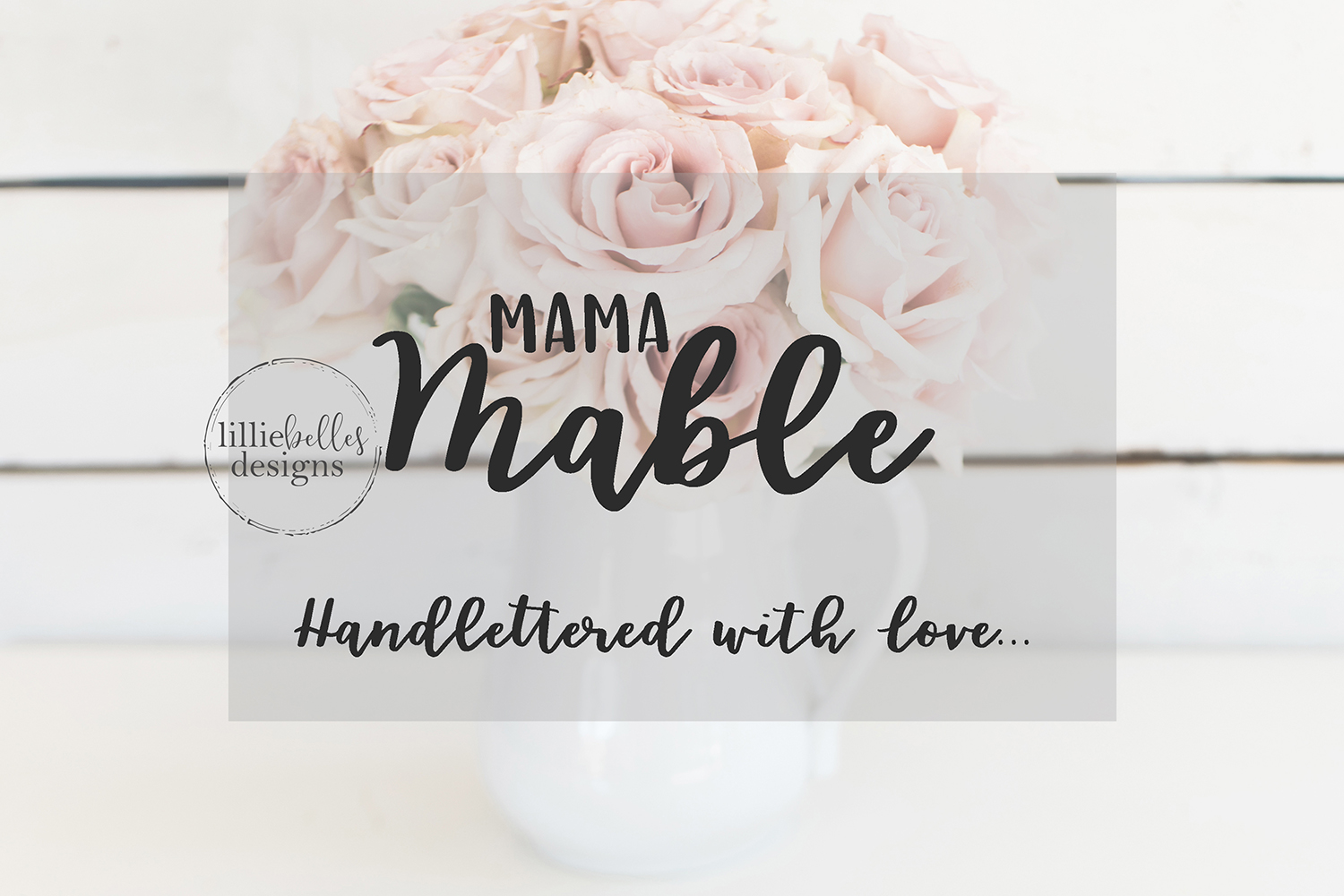 Mama Mable - A hand lettered font duo example image 1
