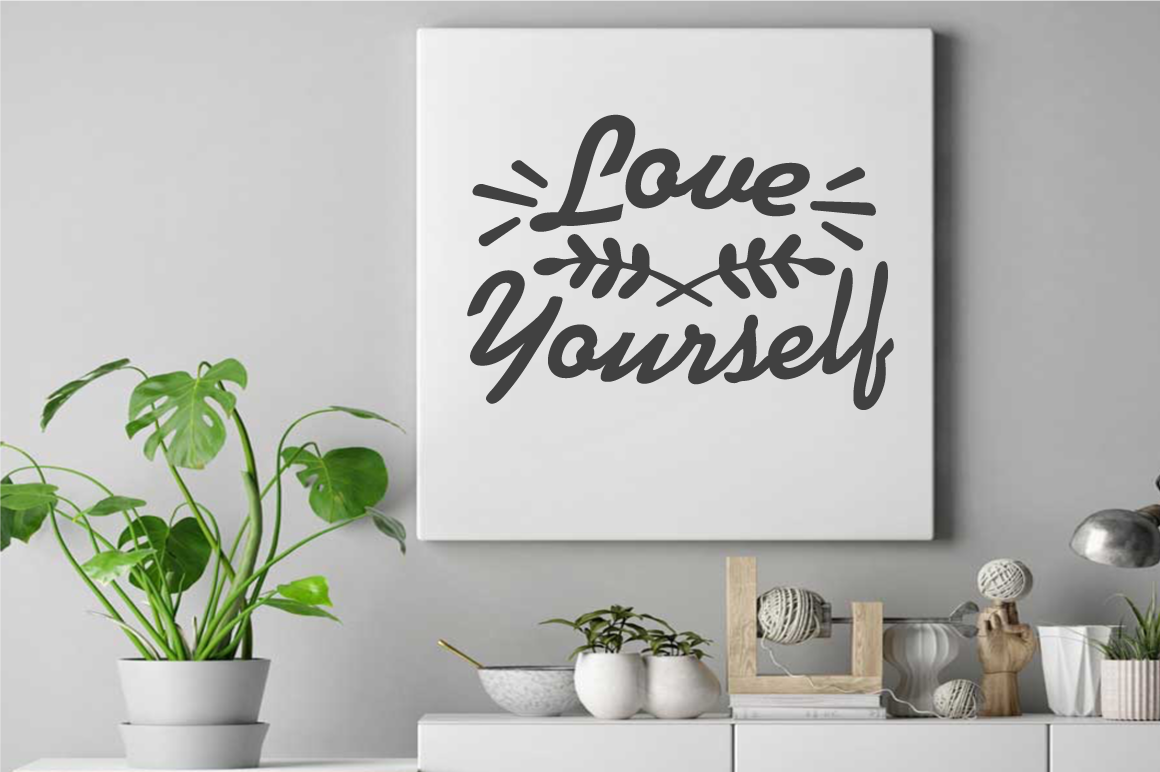 SVG Cut File - LOVE Yourself example image 2