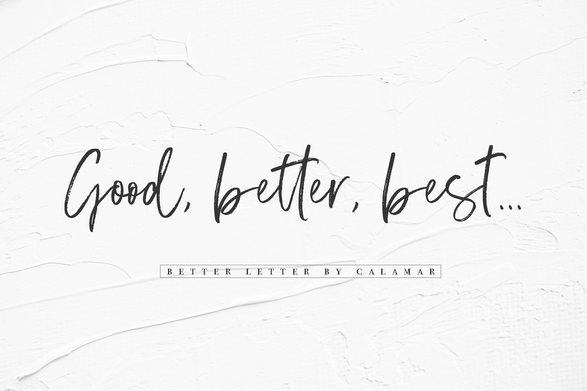 Better Letter Font example image 5