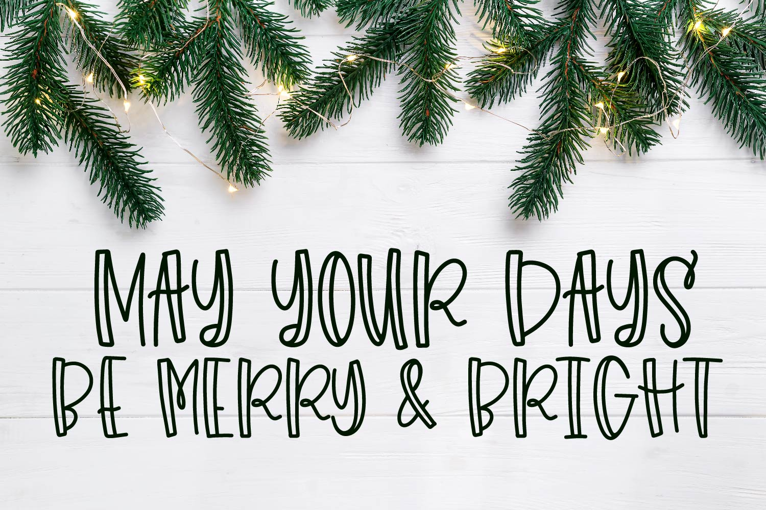 Holiday Colors - A Script & Print Font TRIO for Christmas! example image 4