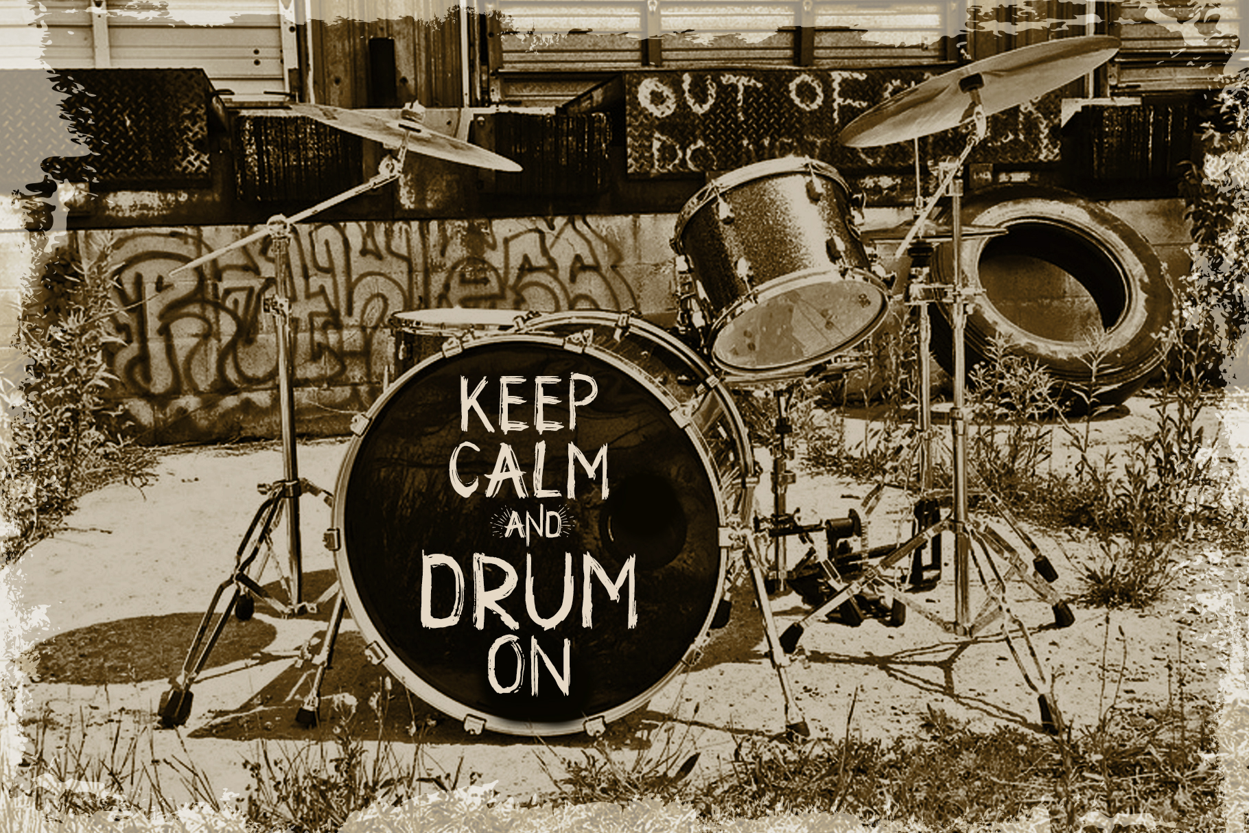 Drum. Handmade brush display font  example image 3