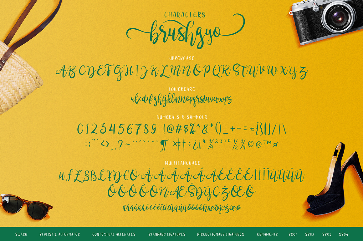 brushgyo typeface example image 3