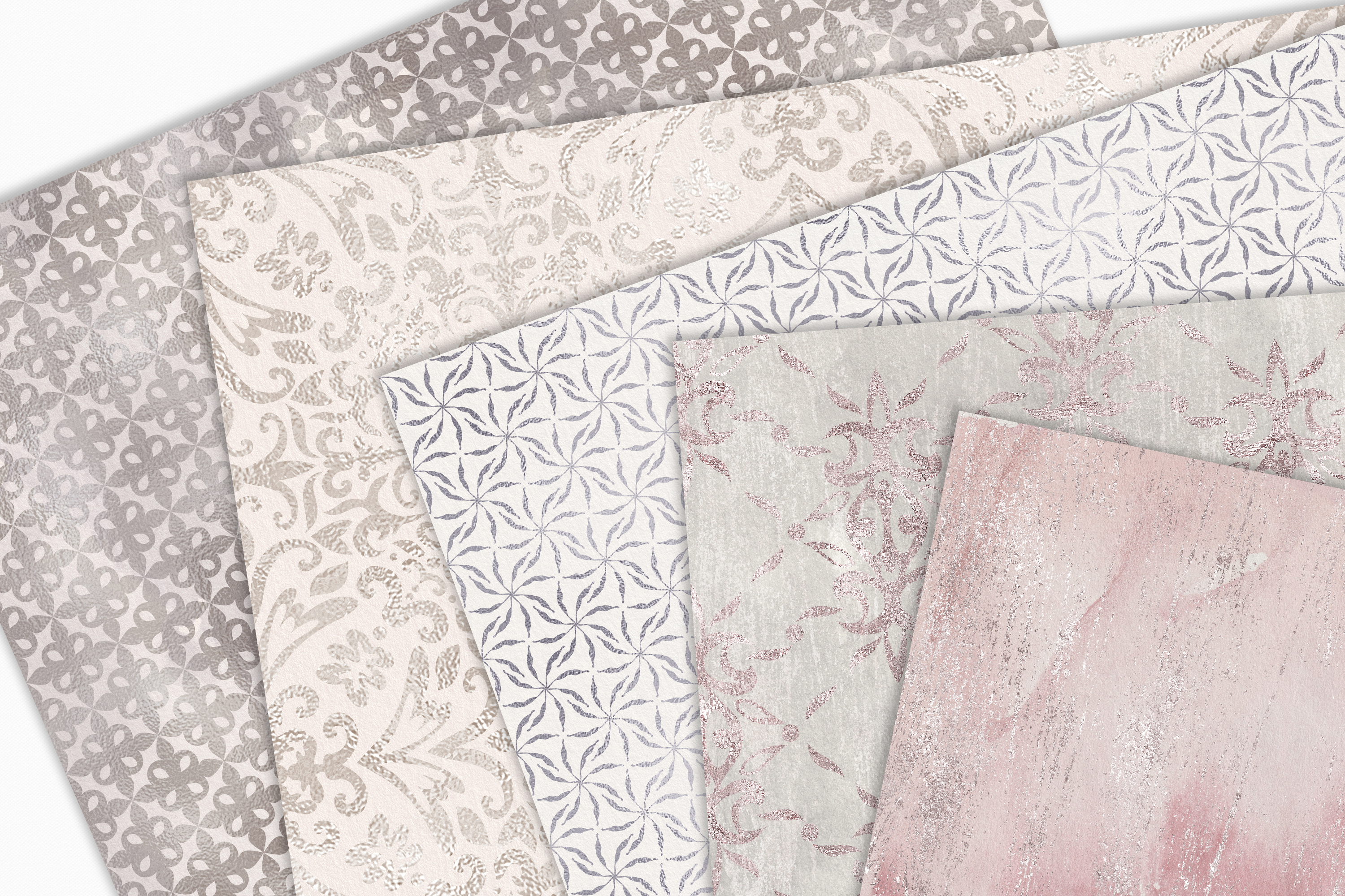 20 Seamless Shabby Chic Digital Papers example image 2