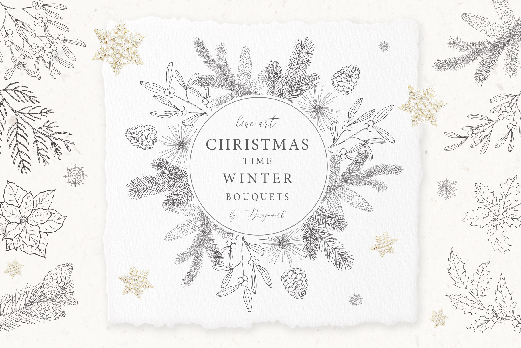 Christmas Time. Winter Bouquets. example image 1