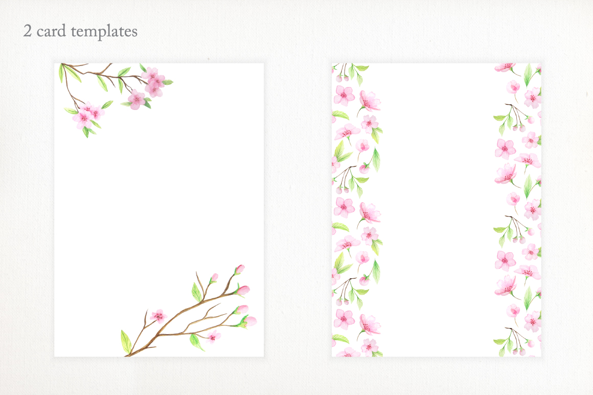 Watercolor Cherry Blossoms example image 5