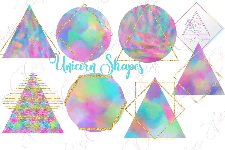 Unicorn Shapes Clipart example image 1
