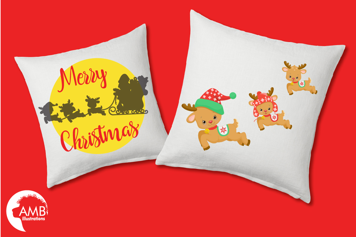 Santa's sleigh clipart, graphics, illustrations AMB-2294 example image 2