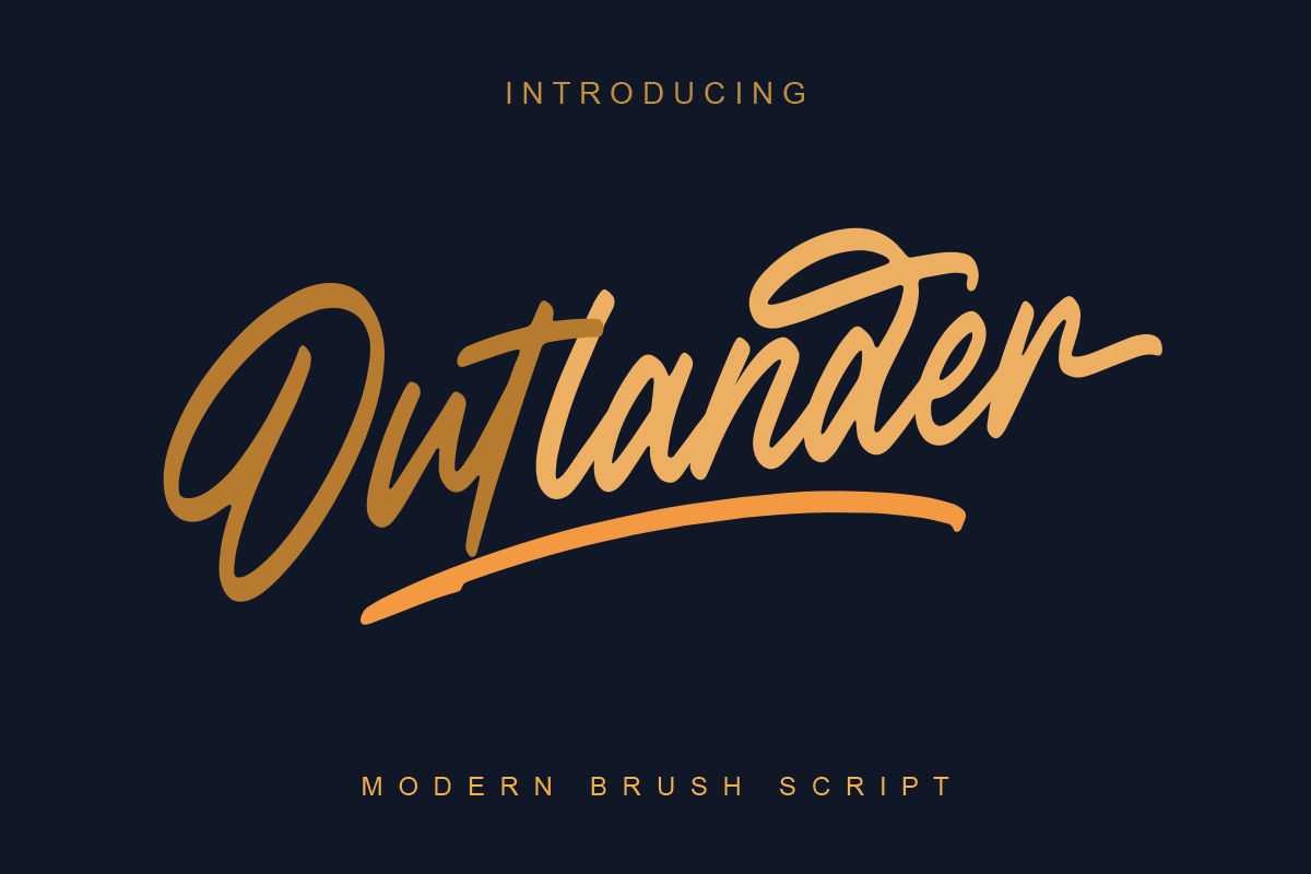 Outlander Brush Script example image 11