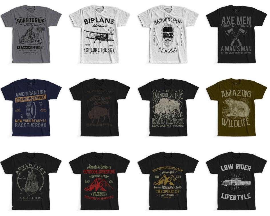 100 Retro Vintage T Shirt Designs Example Image 8