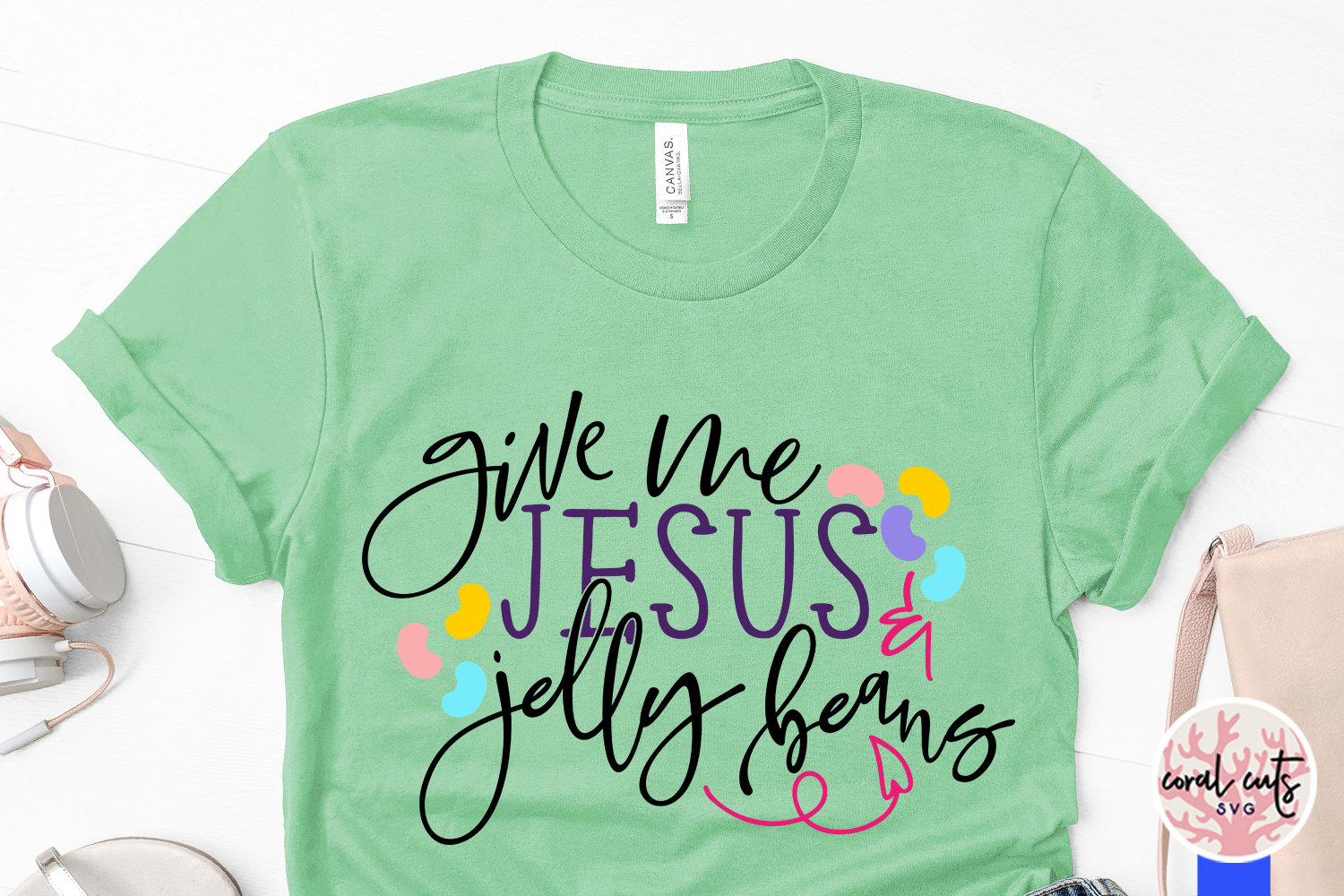 Give me jesus and jelly beans - Easter SVG EPS DXF PNG File example image 3