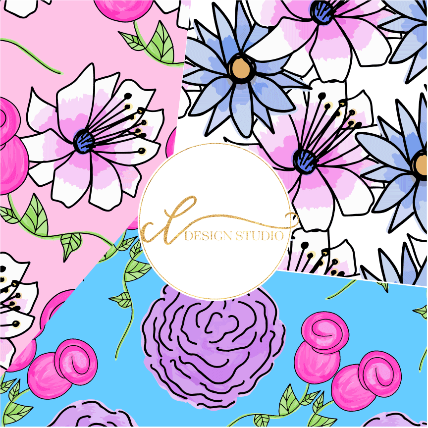 Floral Surprise Digital Papers example image 2