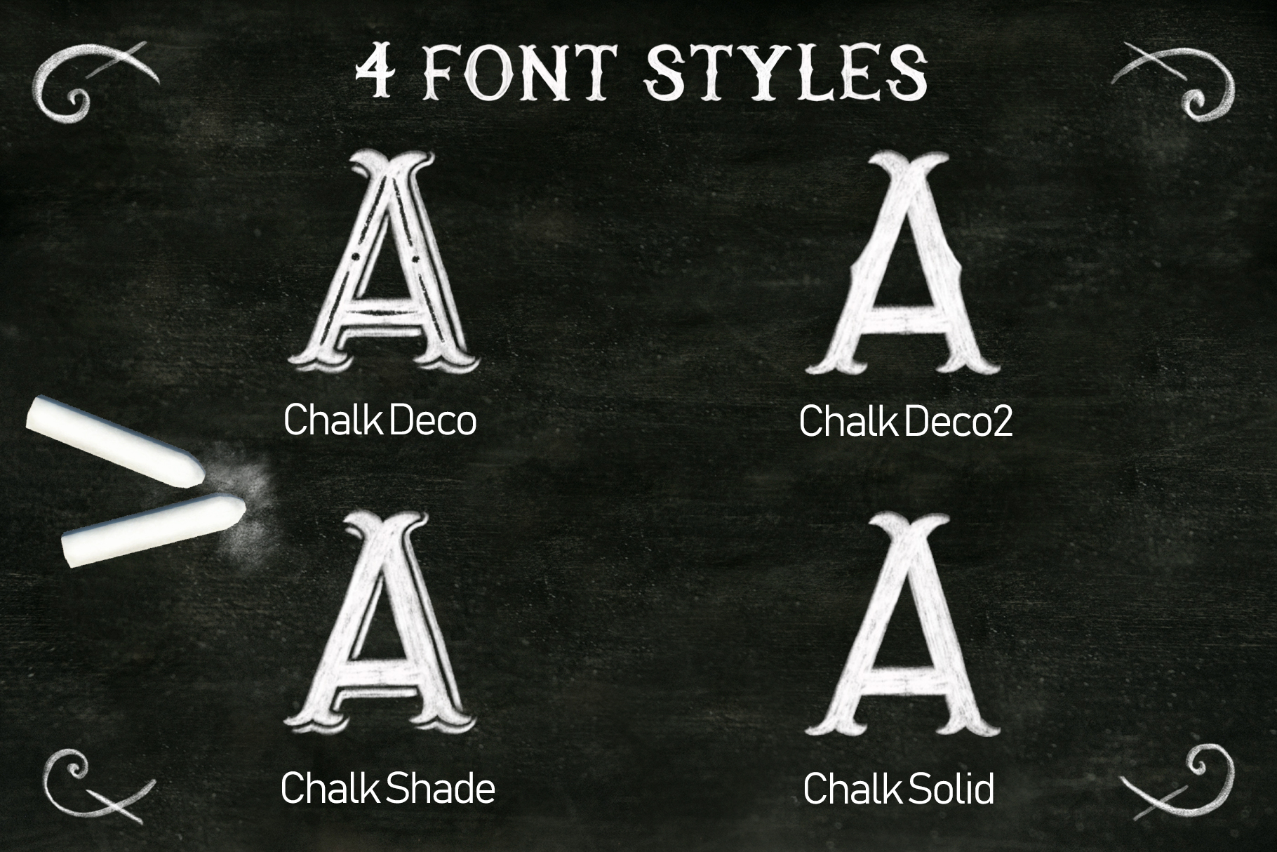 Chalk SVG font example image 2
