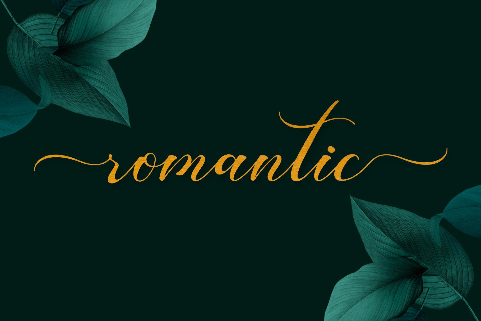 Romansan | Romantic Calligraphy example image 17