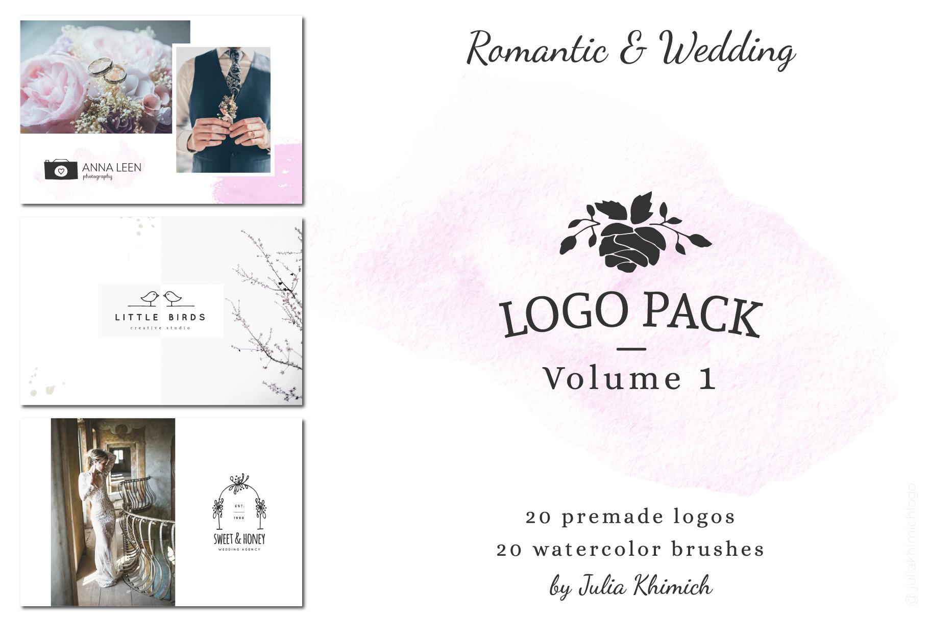 Logo Pack Vol.1. Romantic & Wedding example image 1