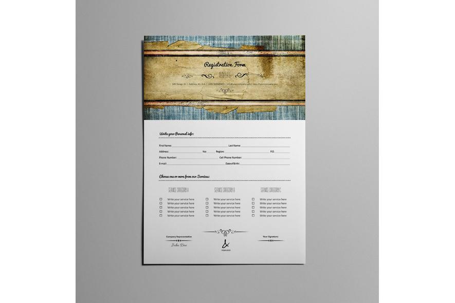 Registration Form Template v11 example image 4