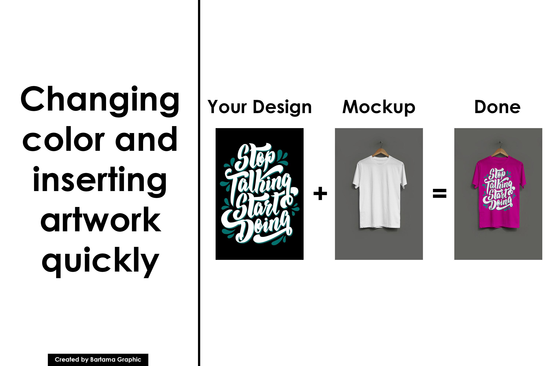 Hanging T-shirt Mockup example image 3