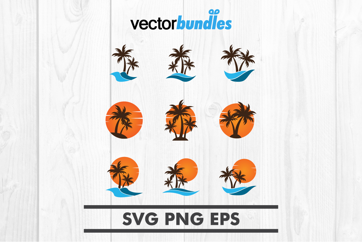 Palm tree clip art svg example image 1