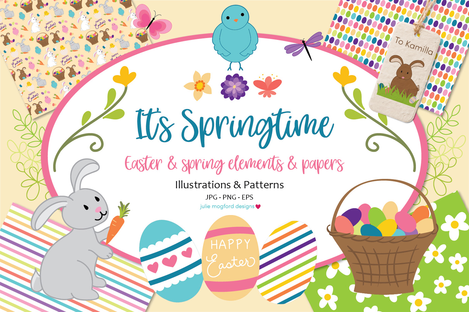 It's Springtime - Easter & Spring Graphics and Papers example image 1