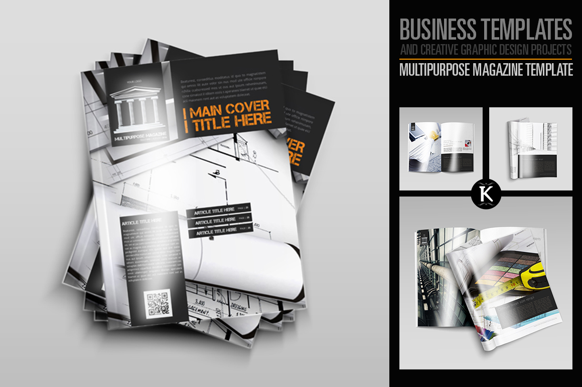 Multipurpose Magazine Template example image 1