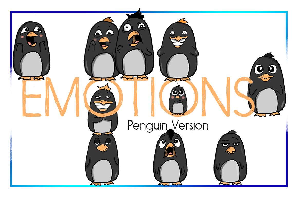 Holiday Clipart-Penguin Clipart-Arctic Clipart-Cartoon-Sticker Clipart-Digital-Penguin-Penguin Art-Digital-Penguin xmas Drama-Commercial example image 1